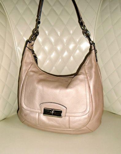 02f7cc691444 I m auctioning  8 COACH Kristin Champagne Leather Hobo Shoulder Bag VGC++