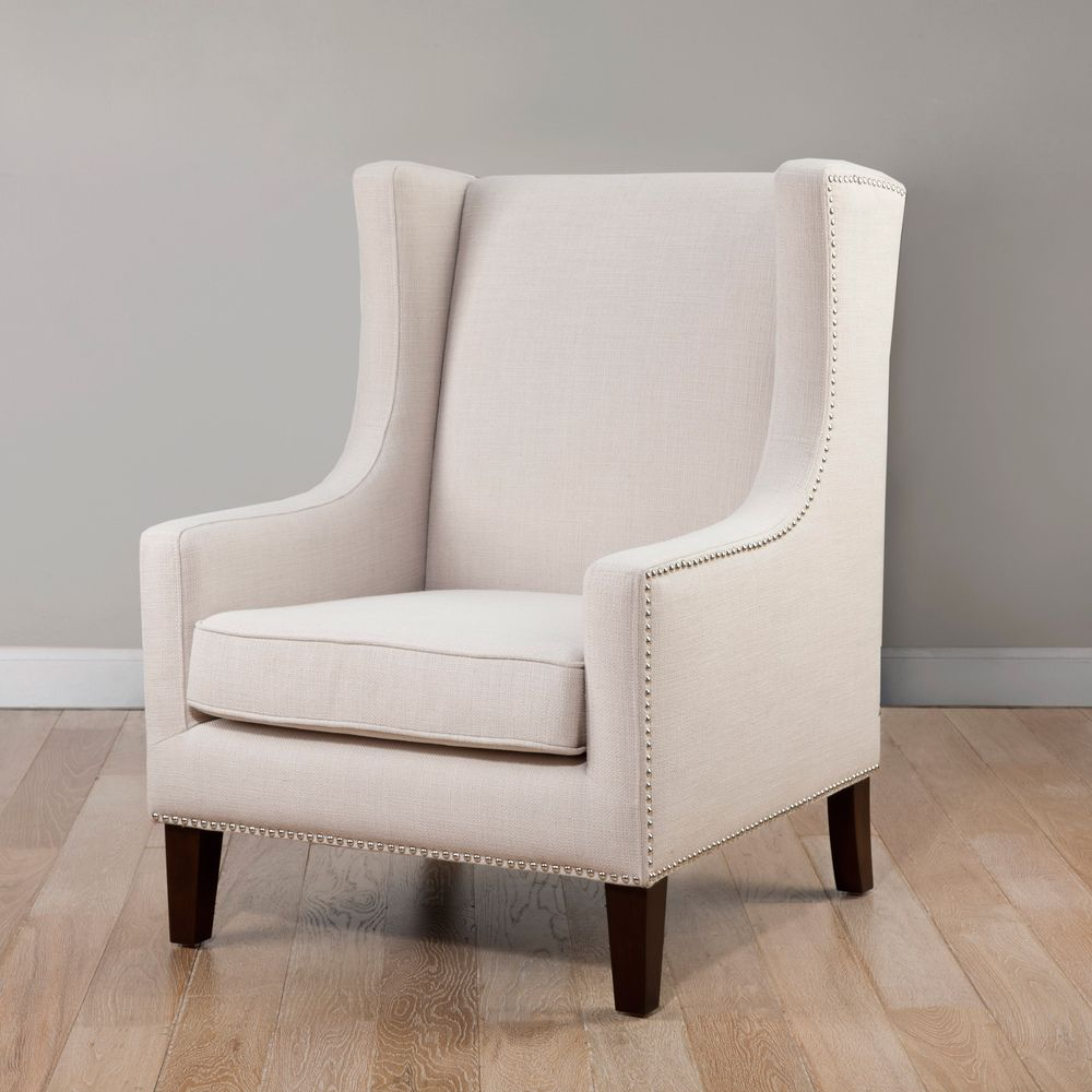 Chevron wing chairs - Whitmore Lindy Wingback Chair