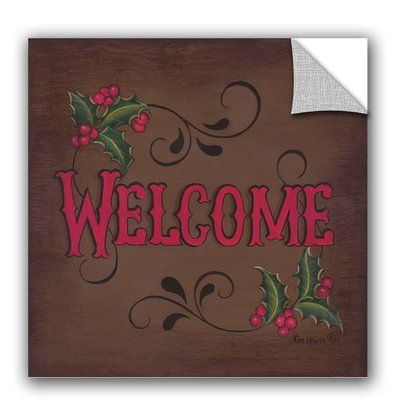 artwall kim lewis welcome removable wall decal in 2019 on kim wall id=57555