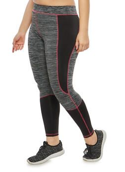 714f929d226 Plus Size Marled Color Block Activewear Leggings - 1951038342808 ...