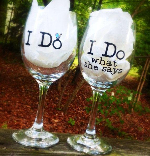 wedding wine glasses bride and groom personalized on etsy wedding ideas pinterest. Black Bedroom Furniture Sets. Home Design Ideas