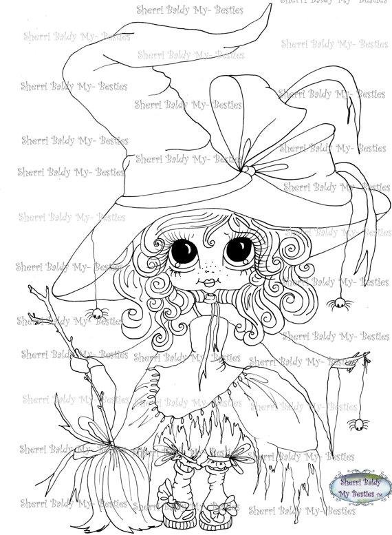 INSTANT DOWNLOAD Digital Digi Stamps Big Eye Big Head Dolls Digi My ...
