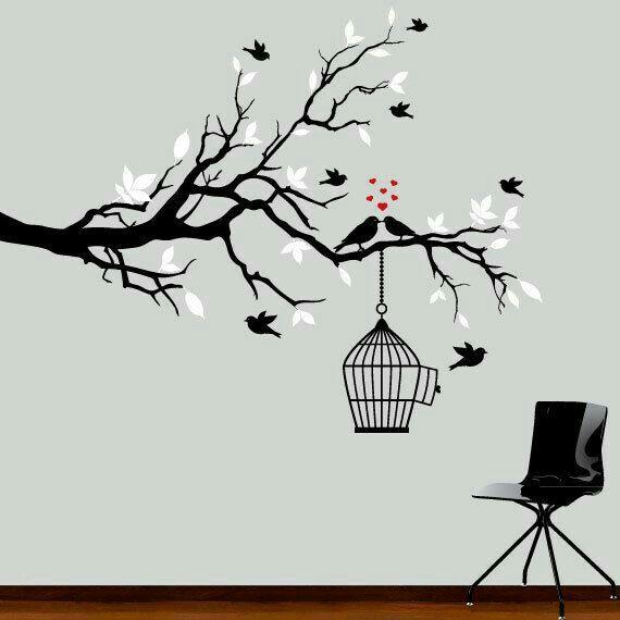 Black Tree Wall Decor : Pin by bijoymondal gmail on canvas