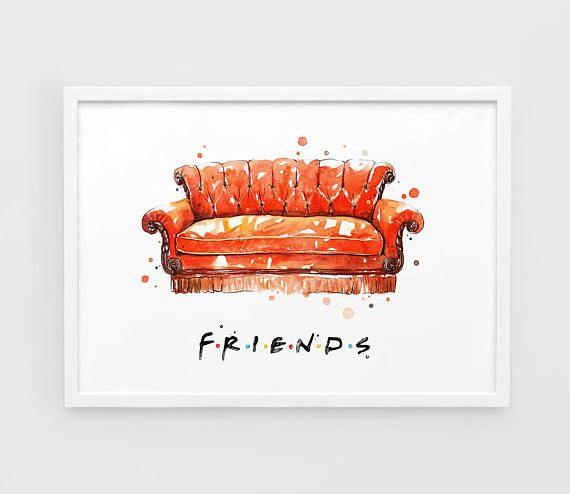 Friends Tv Show Art Sofa Series Print Central Perk Wall Poster O