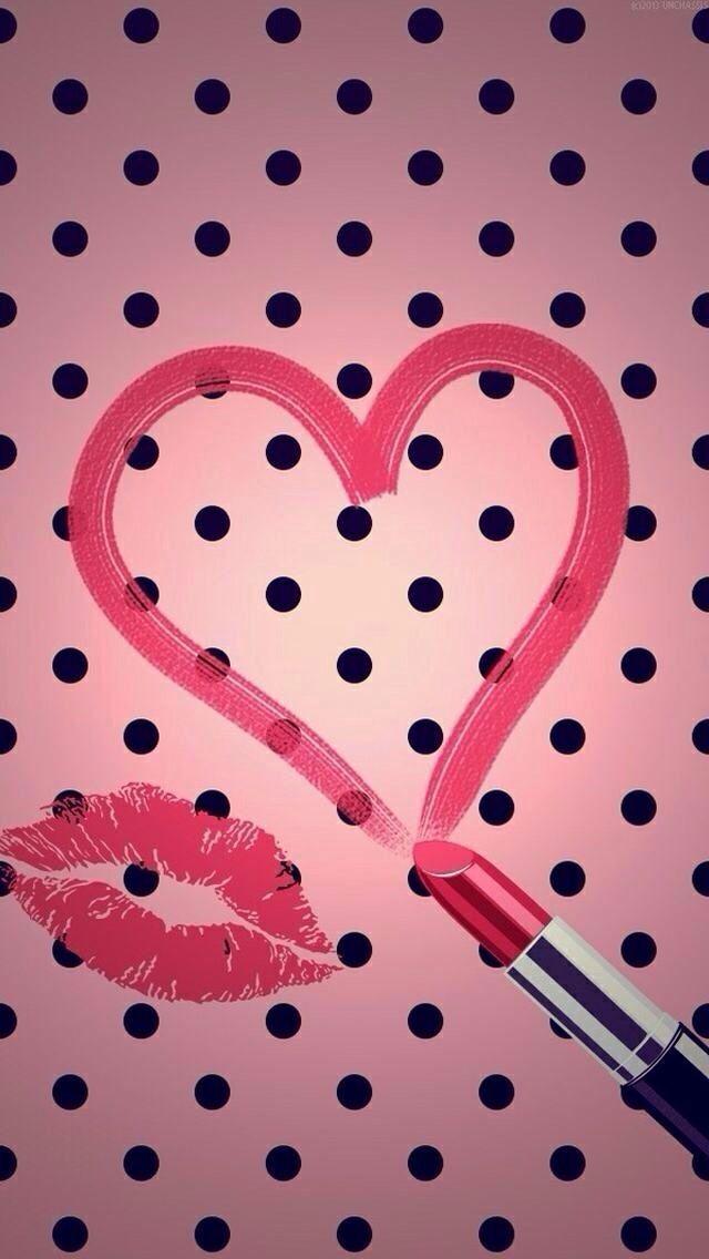 Lipstick kiss wallpaper backgrounds pink wallpaper - Pink lips wallpaper ...