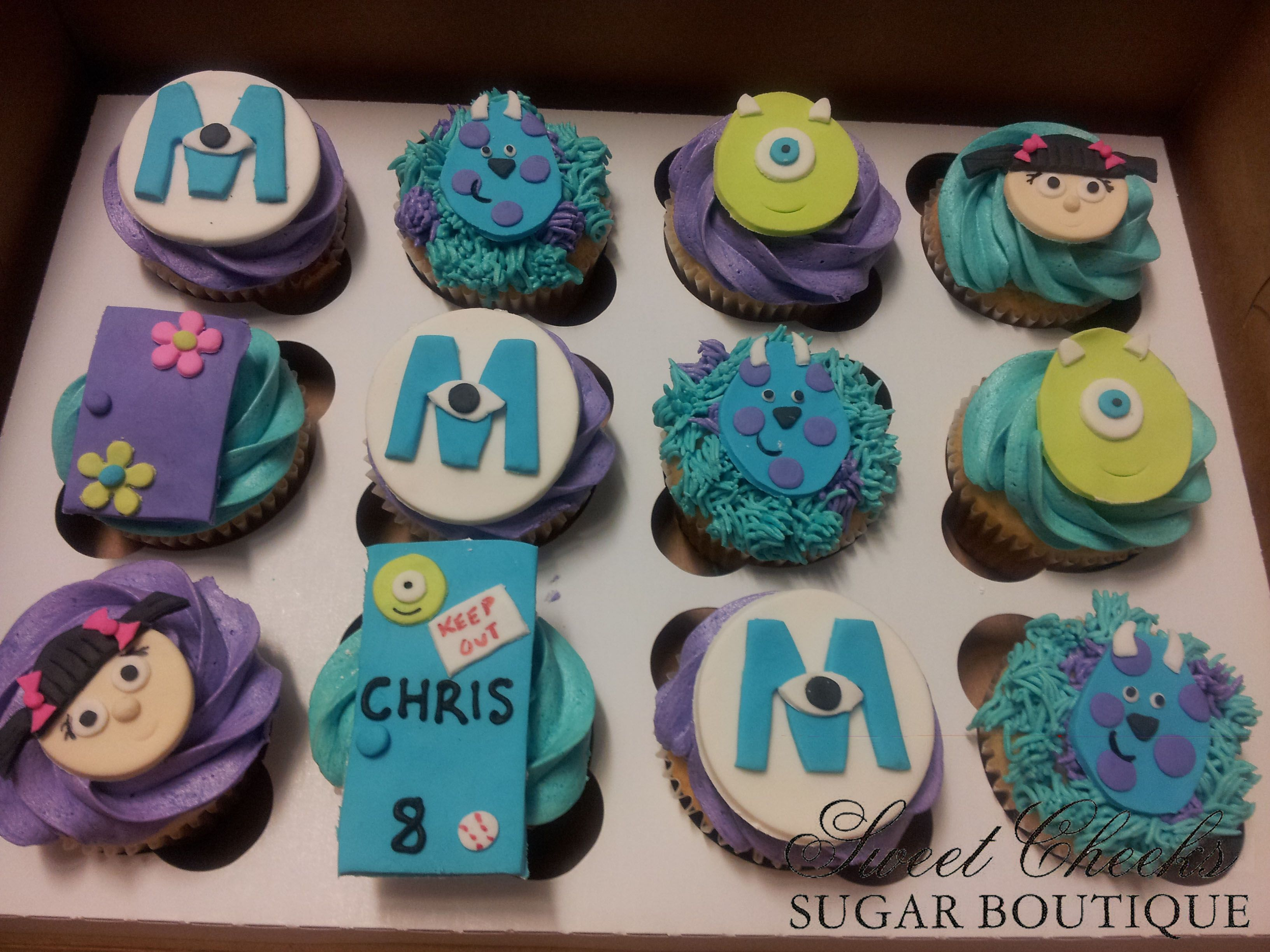 Adorable Monster Cupcakes With A Custom Door For Chris Happy