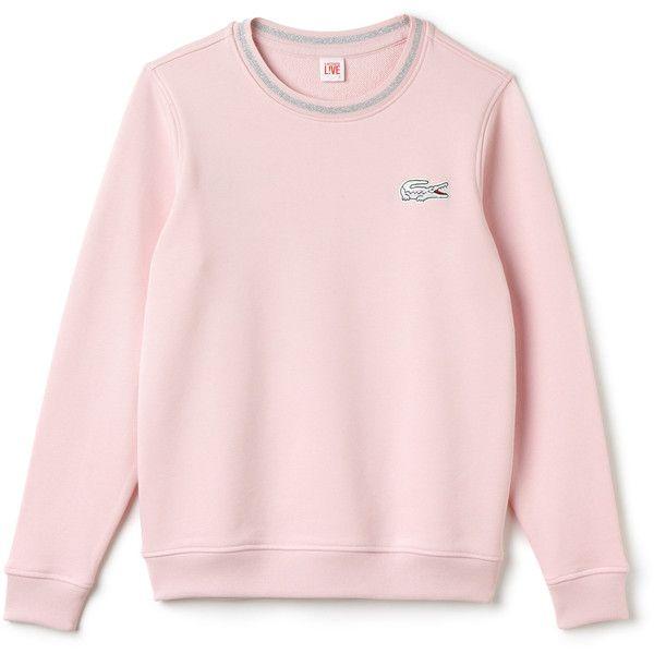 Pink fleece crew neck