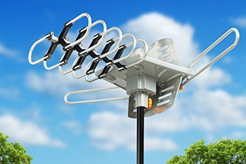 Say Goodbye To Monthly Subscription Fees With This Viewtv Outdoor Amplified Antenna With Wireless Remote 150 Miles Outdoor Tv Antenna Hdtv Antenna Tv Antenna