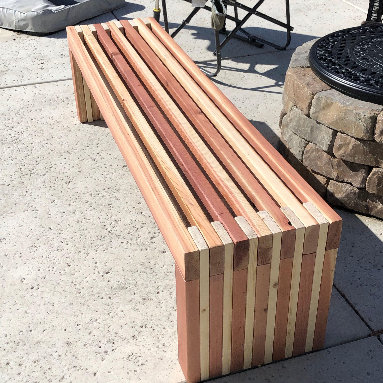 Simple Bench Plans Outdoor Furniture Diy 2x4 Lumber Patio