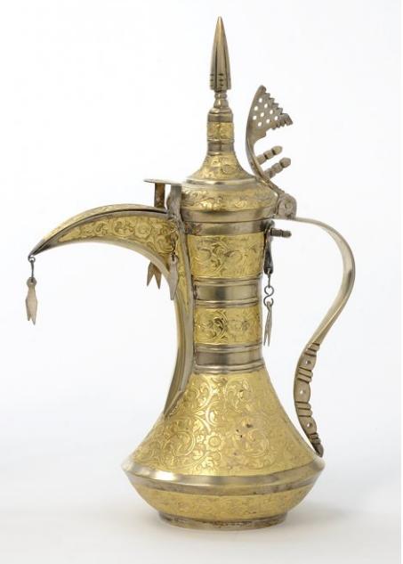Ornately engraved dallah (Arabic Coffee Pot). Oman ...