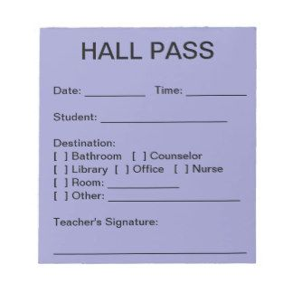 hall pass template for middle school  student hall pass template - Google Search … | School hall ...