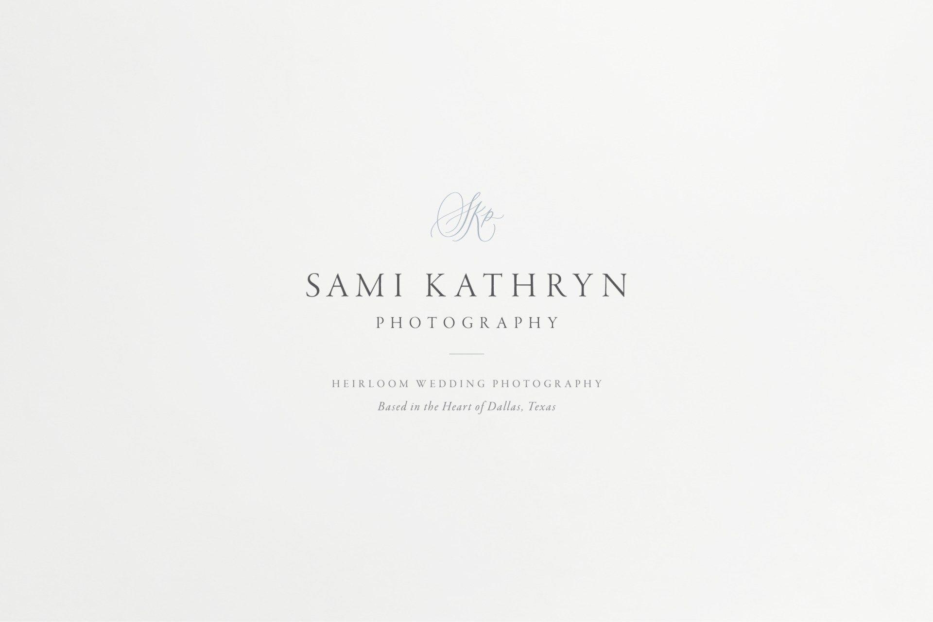 Photographer Brand Design: Sami Kathryn   Branding for Photographers