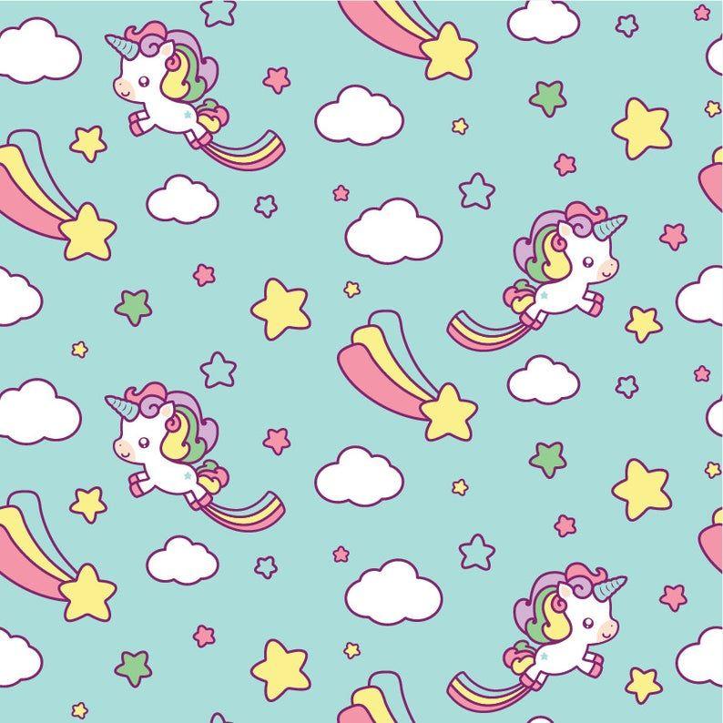 Unicorn clipart kawaii unicorn clipart unicorn clipart cute | Etsy
