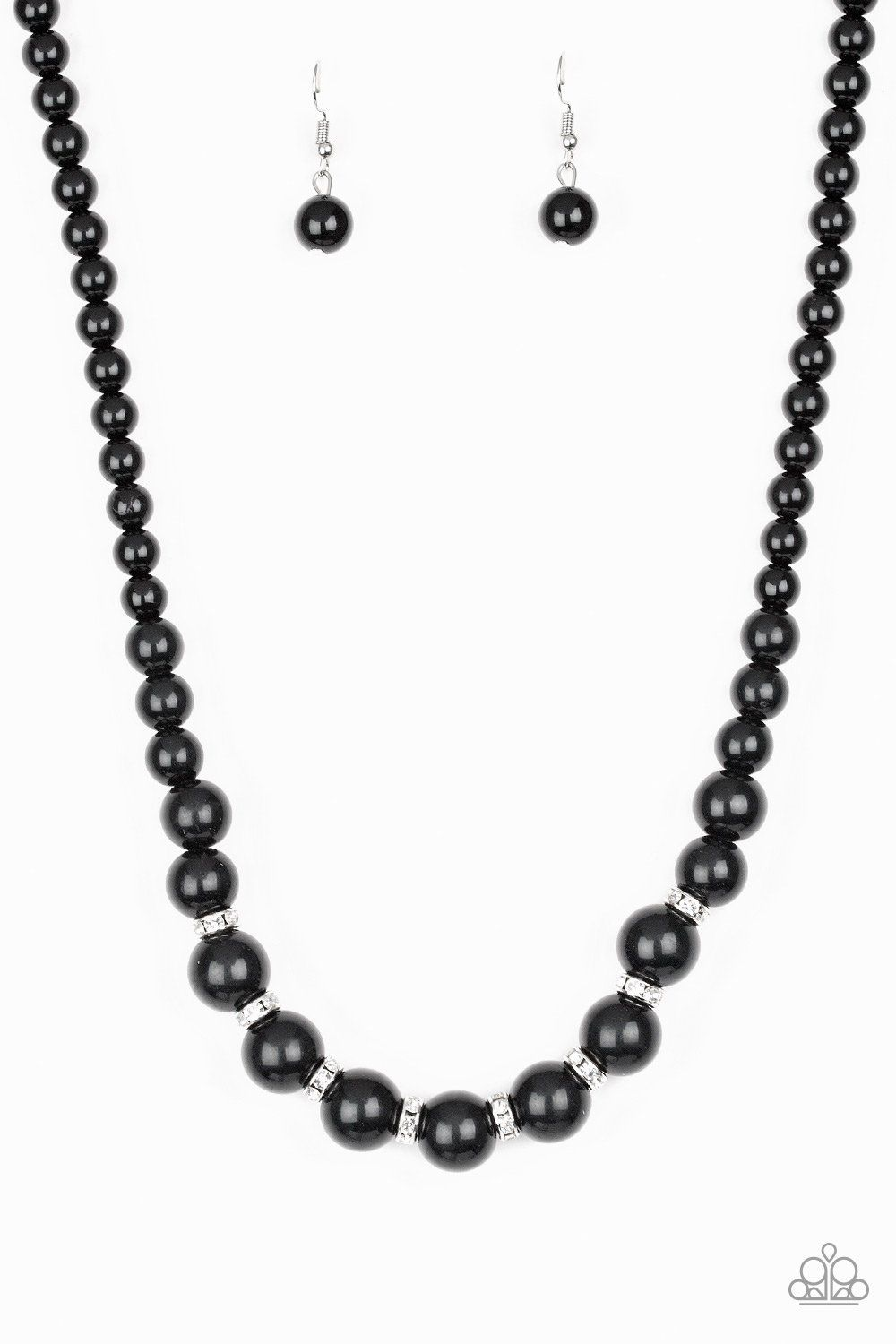 dd718177c040 Showtime Shimmer Black Necklace and Earring Set - Paparazzi Jewelry ...