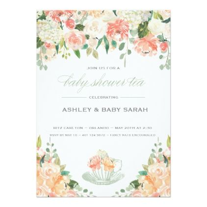Tea Baby Shower Invitation  Baby Shower Ideas Party Babies
