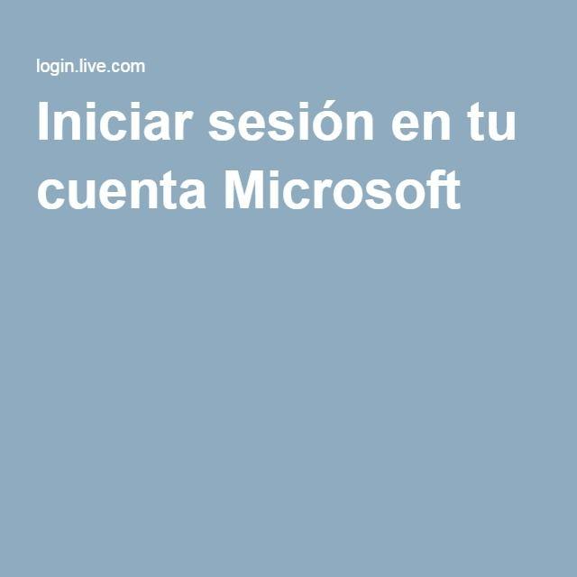 Iniciar sesión en tu cuenta Microsoft