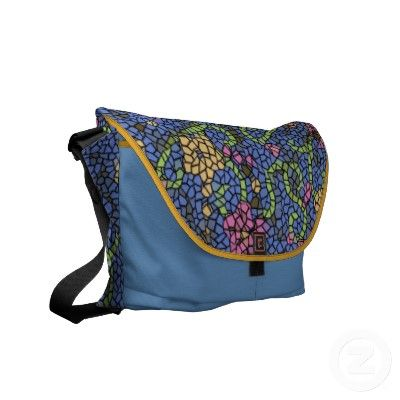 Mosaic ART messenger bag with fall color trends!!