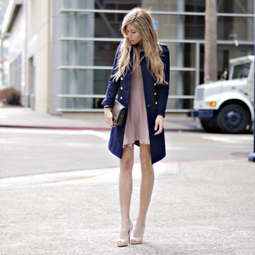 love the coat with the soft pink