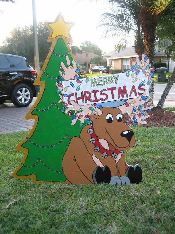 christmas moose 7495 via etsy - Moose Christmas Yard Decorations