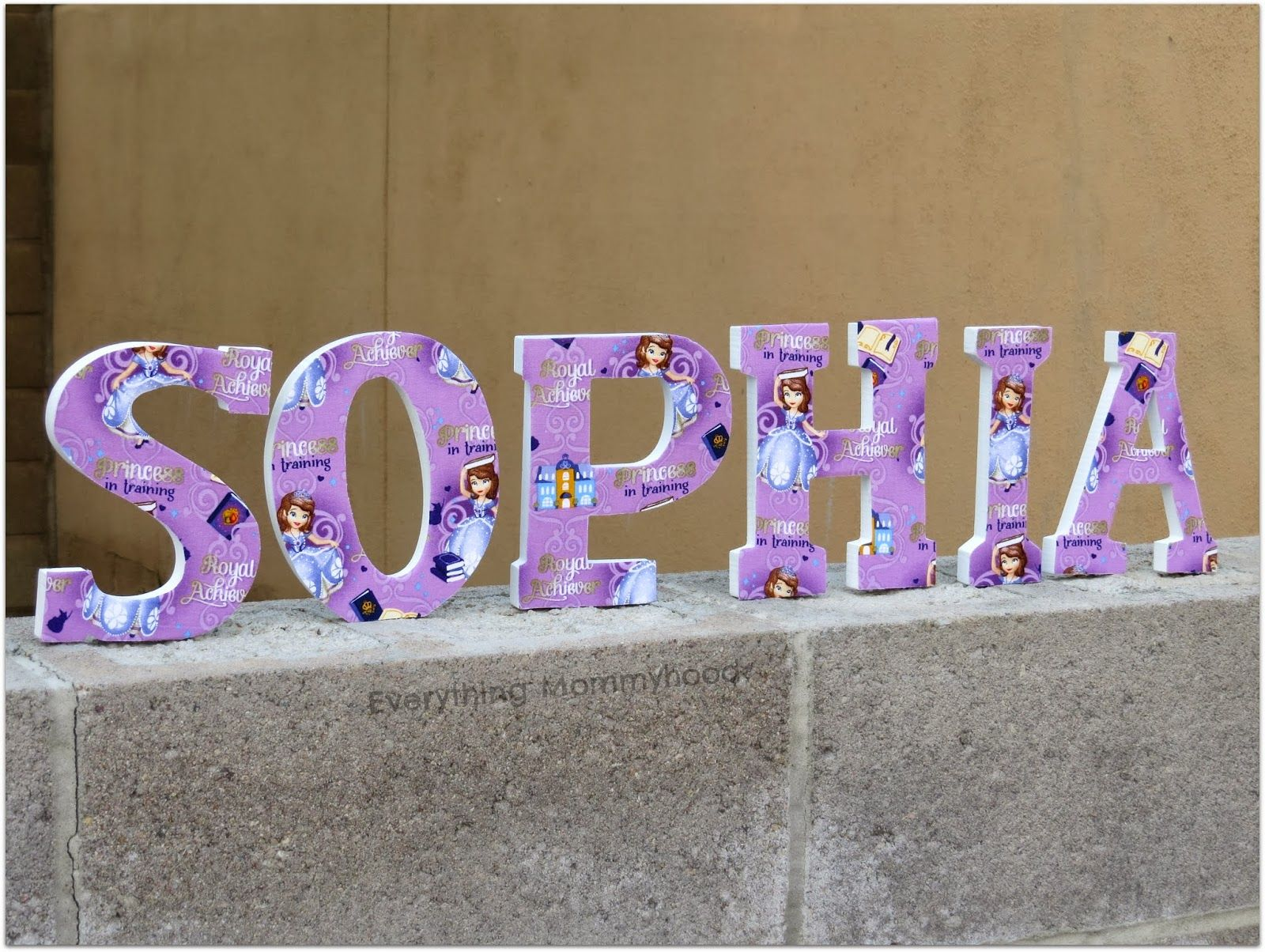 Sofia the first Inspired wall letters. | Sofia The First ...