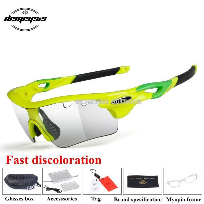 c126e7c97f48 Photochromic Cycling Eyewear Sport Bicycle Glasses Men Women Riding Fishing  Goggles Cycling Sunglasses Bike Accessories.