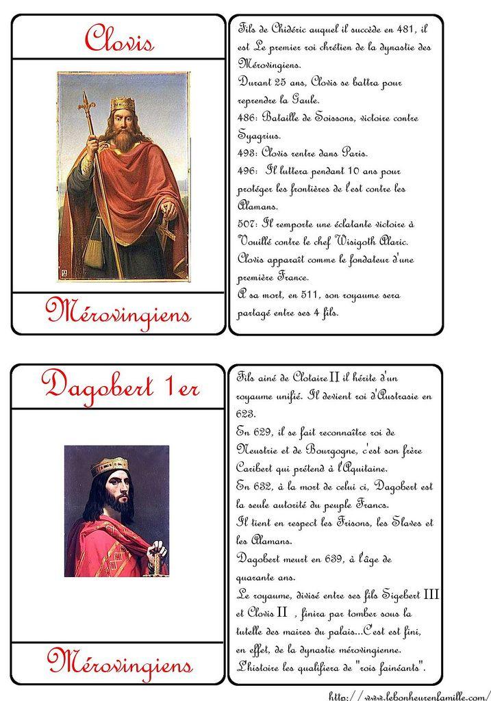 Le Bonheur En Famille Carte D Identite Des Rois Clovis Et Dagobert