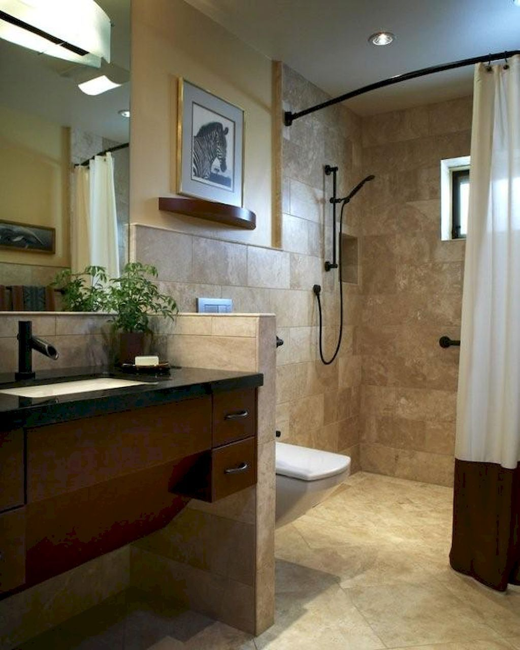 Gorgeous 50 Best Small Bathroom Remodel Ideas On A Budget Https Lovelyving Com 2017 09 Universal Design Bathroom Accessible Bathroom Design Bathrooms Remodel