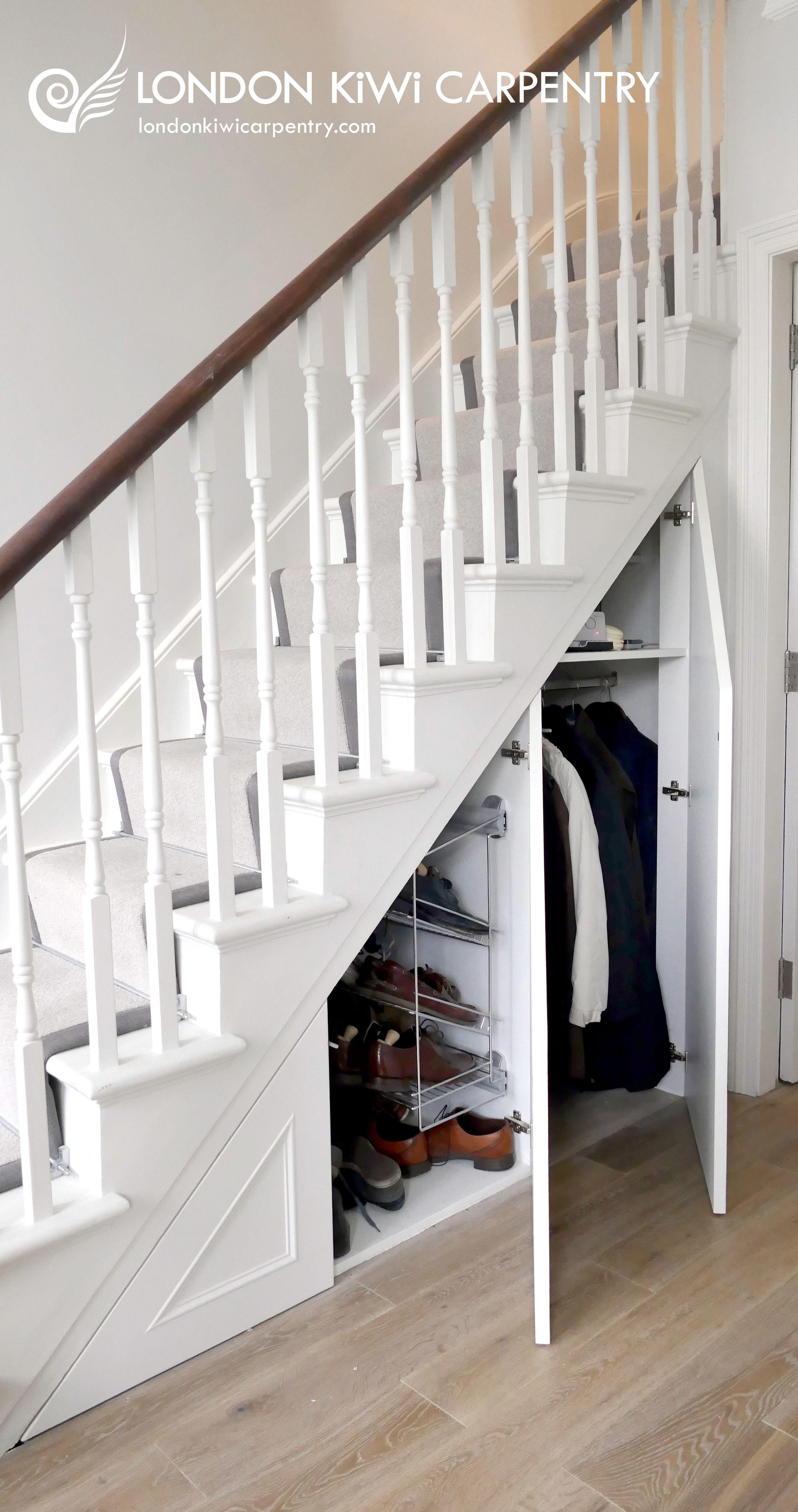 Under Stair Storage (Open) By London Kiwi Carpentry #Understairs #Storage