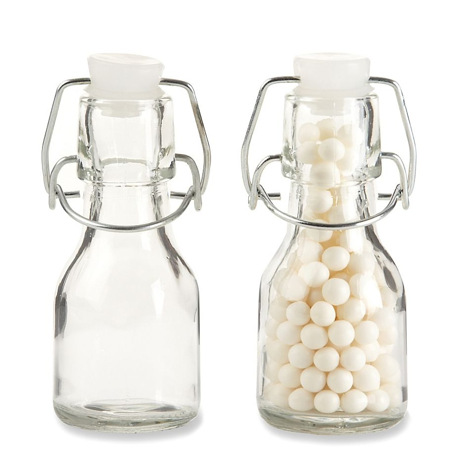 Kate Aspen Swing-Top Mini Glass Favor Bottle (Set Of 12)