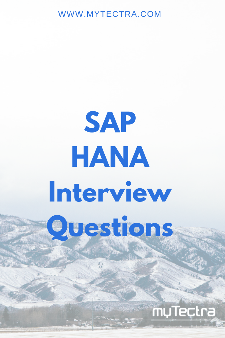 SAP HANA Interview Questions | This or that questions ...