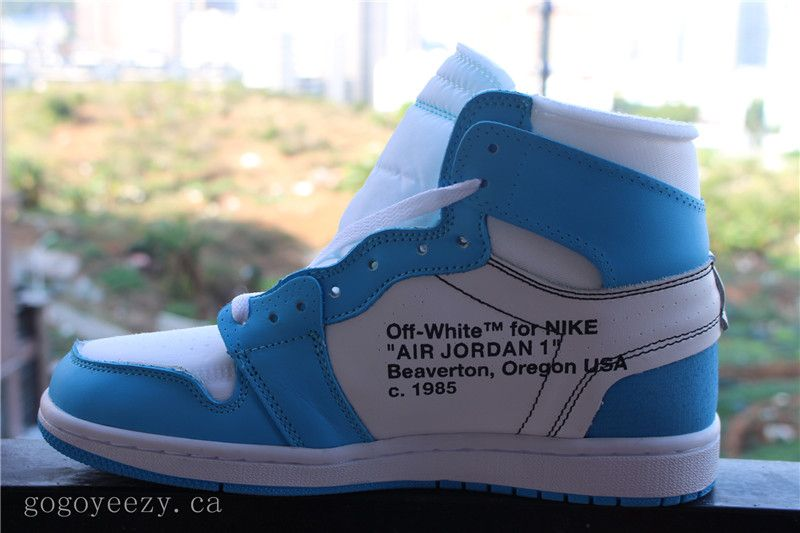 "753c38f8a54cc Off-White x Air Jordan 1 Retro OG High ""UNC"" White Blue"