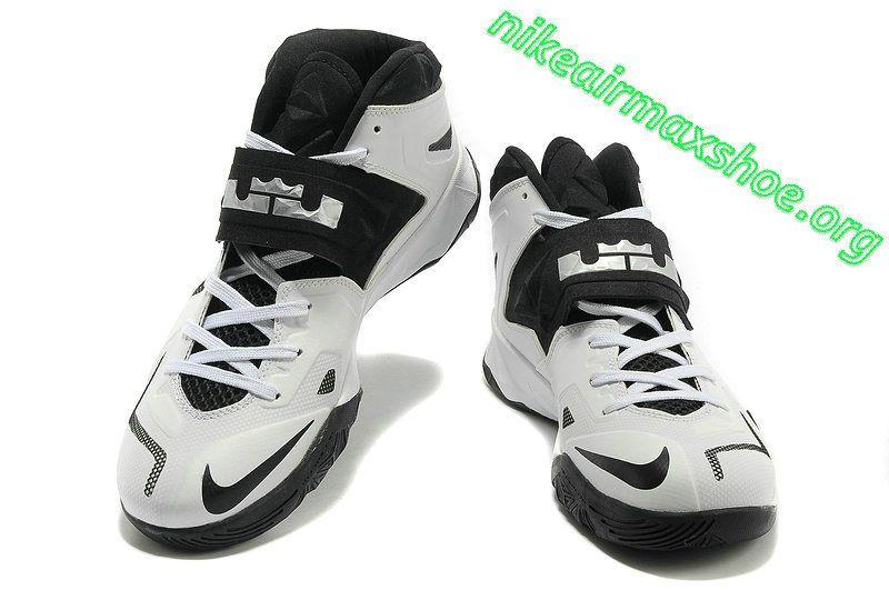 half off 4c77e c57c9 Nike Zoom Lebron Soldier 7 Sample Simple White Black Metallic Silver 599264  003