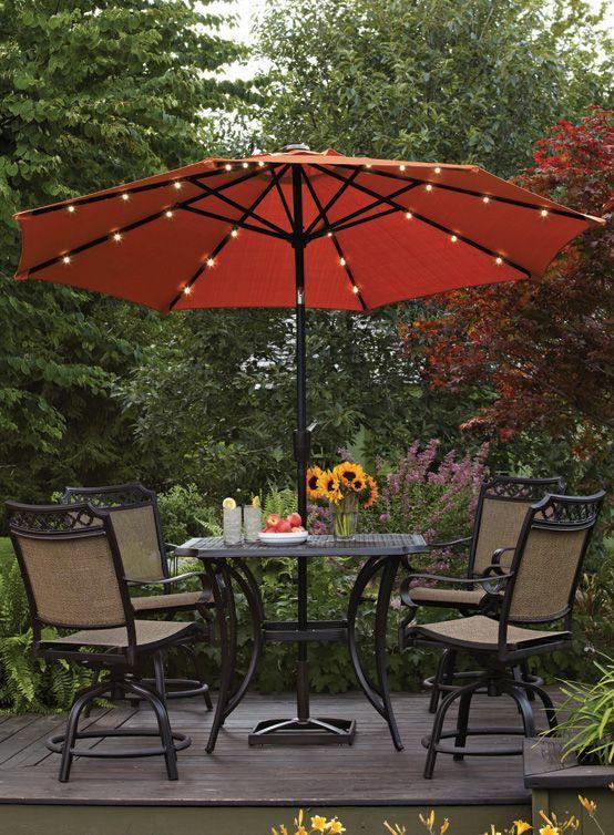 Patio Garden Patio Umbrella Lights Backyard Lighting Patio Umbrella