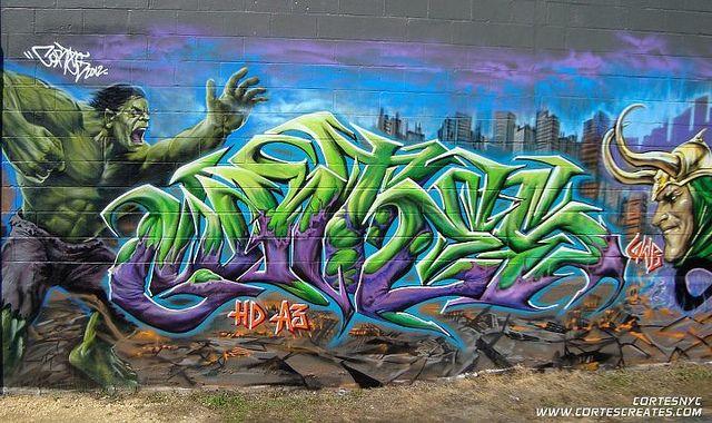 The Hulk Avengers Graffiti Cortes New Jersey Street Art Graffiti Graffiti
