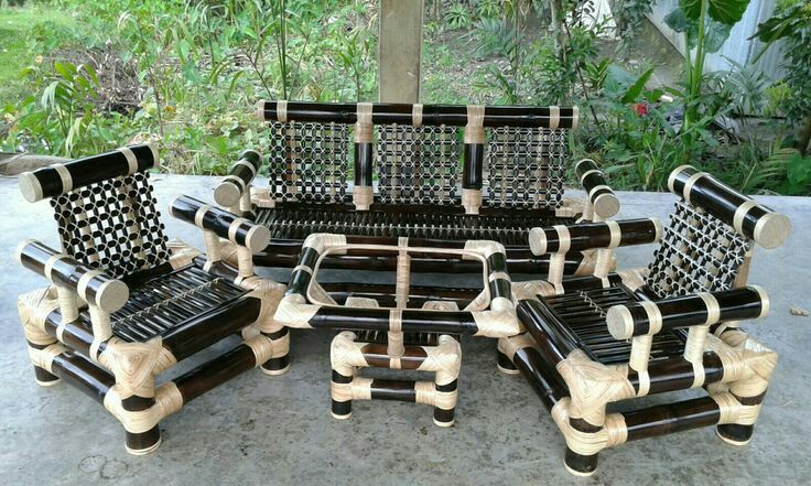 Four Seaters Sofa Set With Center Table Product Code 48 Price Rs 20000 Including Transportation Cost Booking On Advan Sofa Set Bamboo Sofa Sofa Handmade