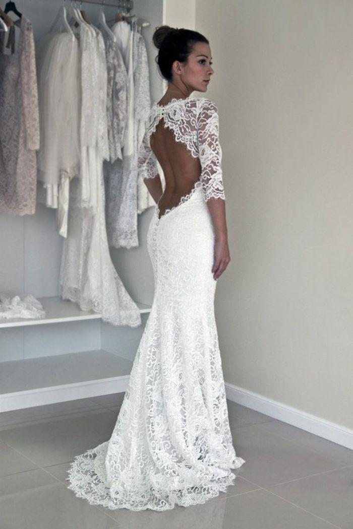Ruckenfreie Hochzeitskleider Liegen Voll Im Trend Hochzeit Boda