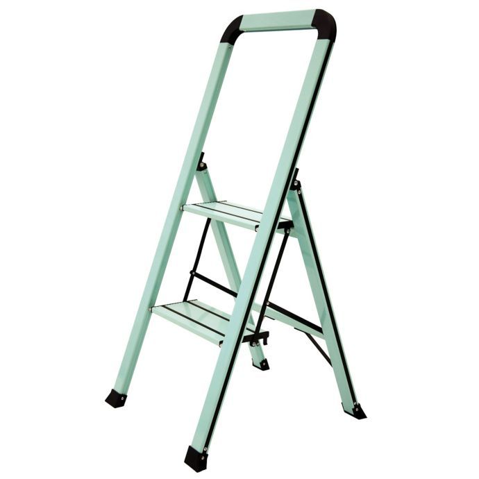 Awesome Ascent Designer Series Slim 2 Step Stool In Teal Bed Bath Caraccident5 Cool Chair Designs And Ideas Caraccident5Info