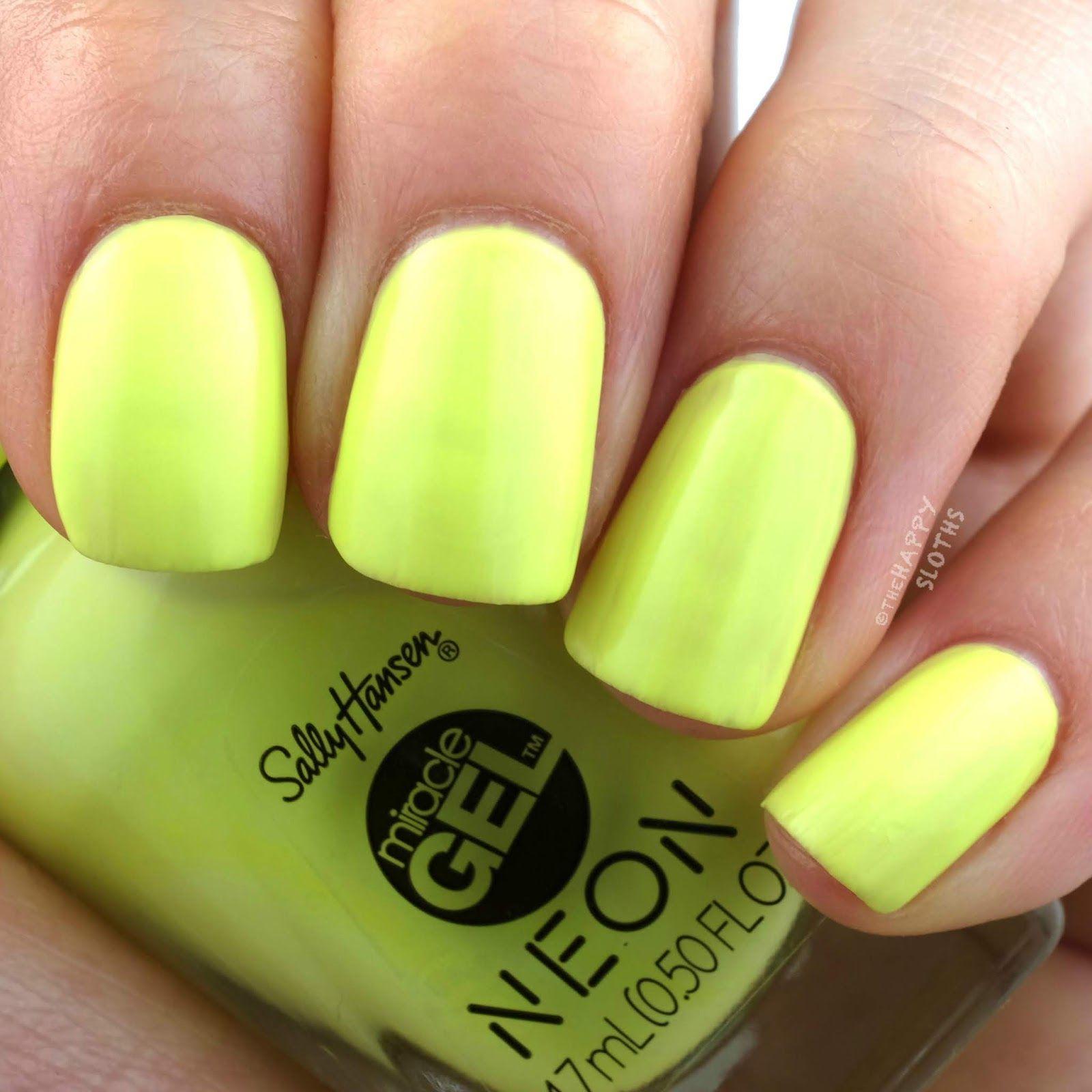 Sally Hansen Fan Faves Sally Hansen Neon Nail Polish Gel Nails