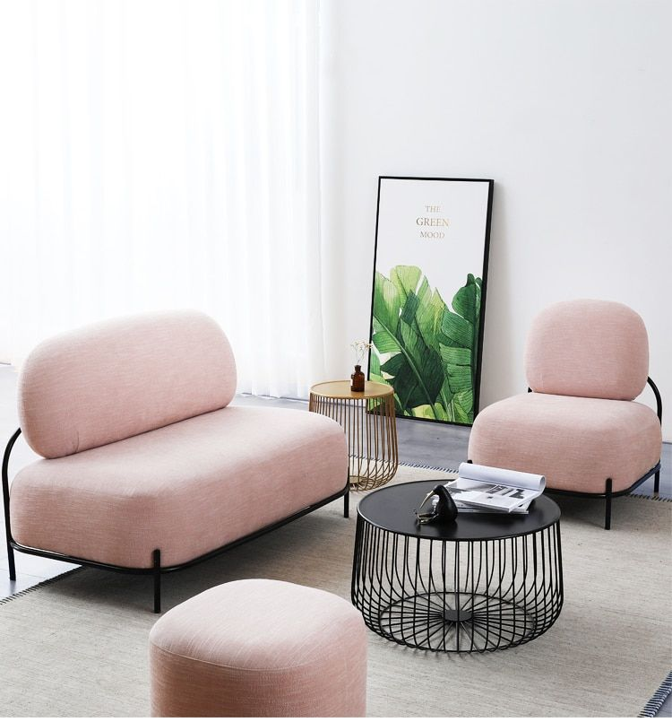135 0us Louis Fashion Nordic Fabric Small Apartment Living Room Furniture Modern Simple Leisure Lounge Cafe Milk Tea Shop Sofa Living Room Chairs Aliexp Modern Furniture Living Room Small Apartment Living