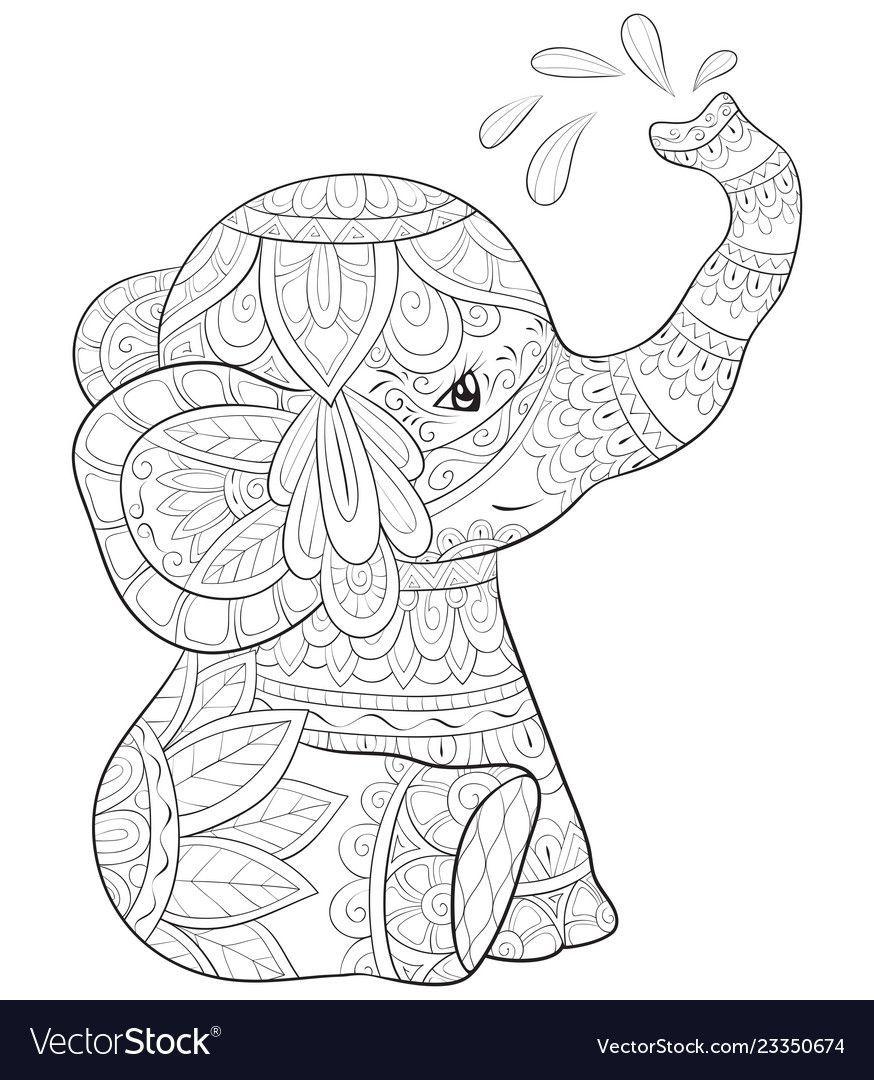 Sulu Boya Malvorlagen Tiere Mandala Zum Ausdrucken Ausmalbilder