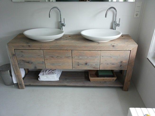 Steigerhouten badkamermeubel a traumhaus