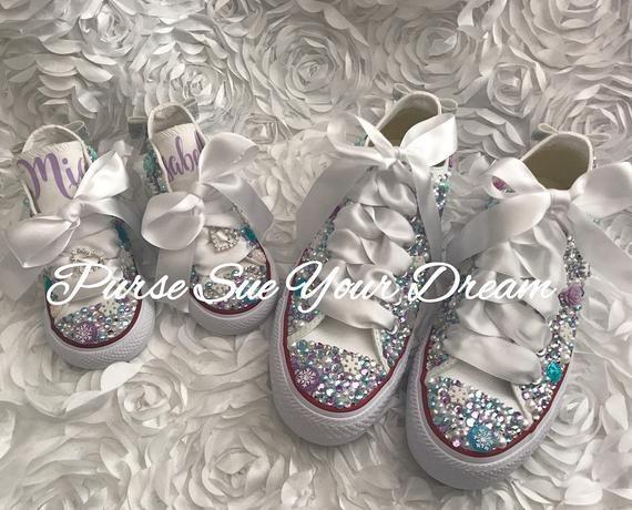 4300a1e81ebec Frozen Themed Swarovski Crystal Designed Converse Shoes - Frozen ...