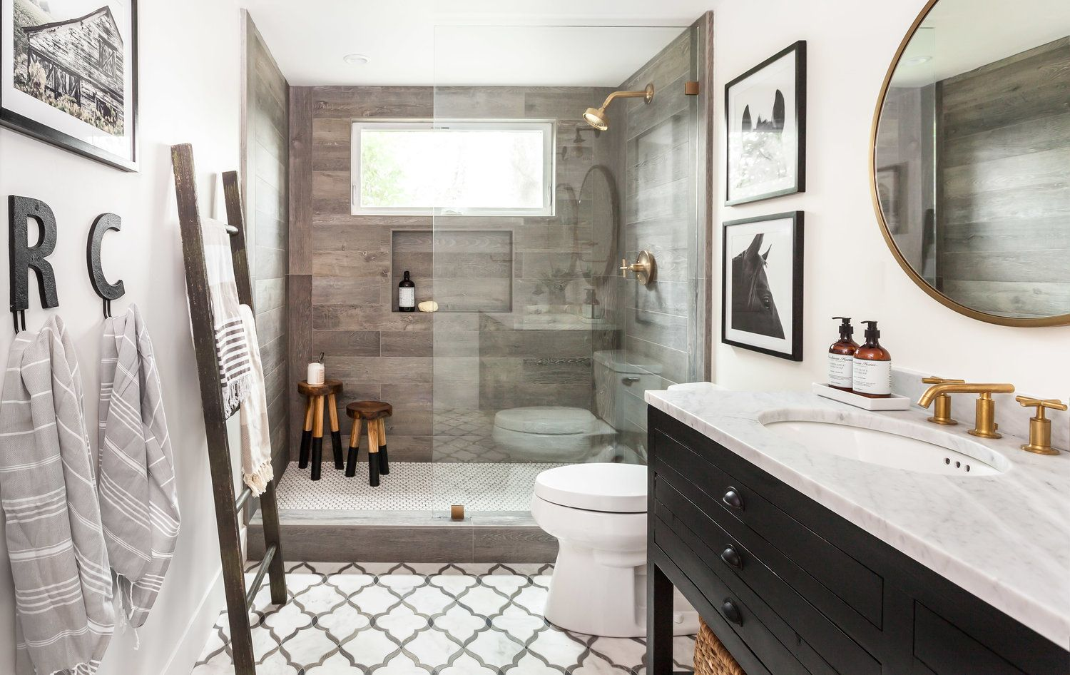 Master bedroom bathroom layout  Luxury Farm House Bathroom located in Loomis CA The shower with the