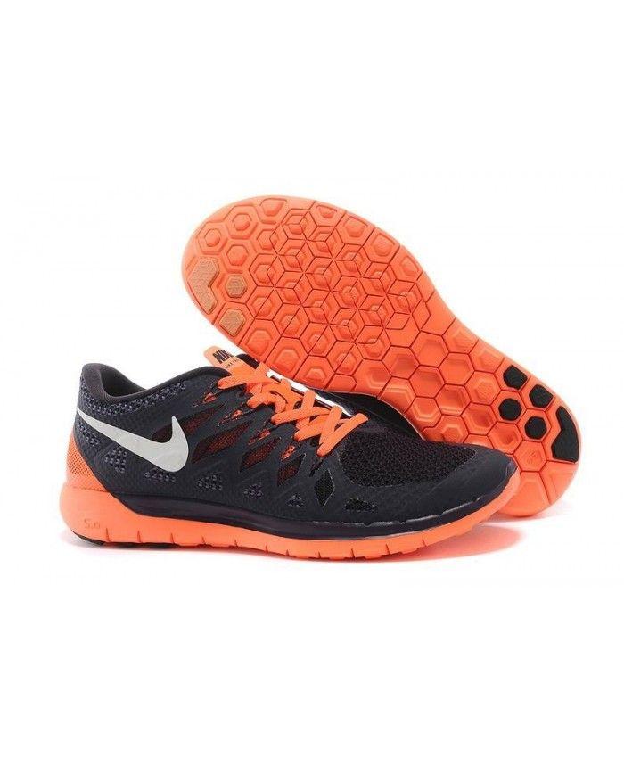 f9ee67bb9c1e Nike Free Run 5.0 2014 Mens UK Sale Black Orange