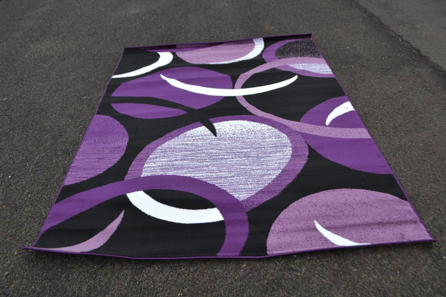 Purple Area Rug With Beautiful Ornament