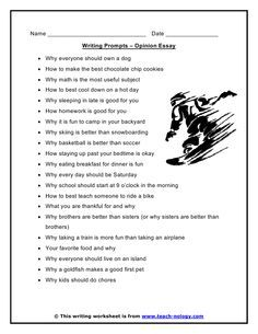 Opinion Essay Writing Prompts Writing Topics Opinion Essay Paragraph Writing