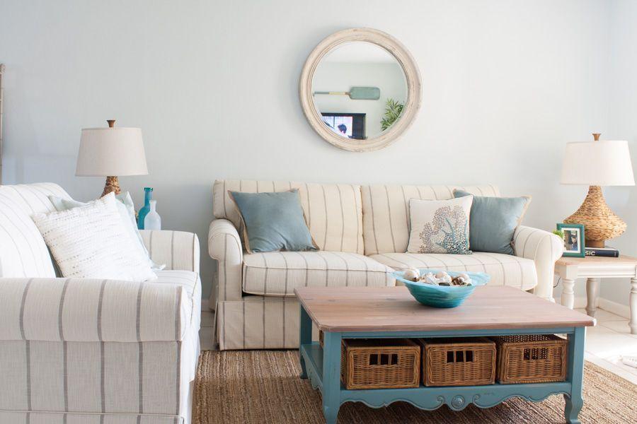 Delray Beach Florida Beach Condo Living Room Decor Before And