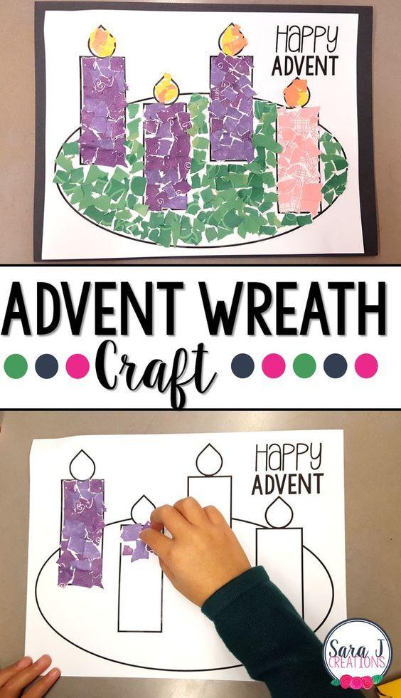 advent wreath rip art craft pinterest wreaths crafts advent