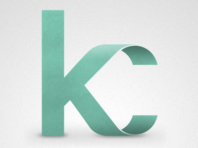 """KC"" monogram by Ryan Hamrick"