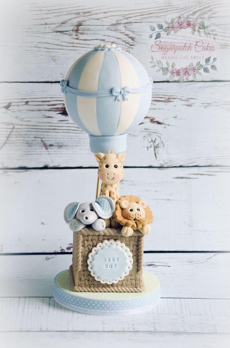 Baby Boy Hot Air Balloon Cake Topper Hot Air Balloon Cake Baby